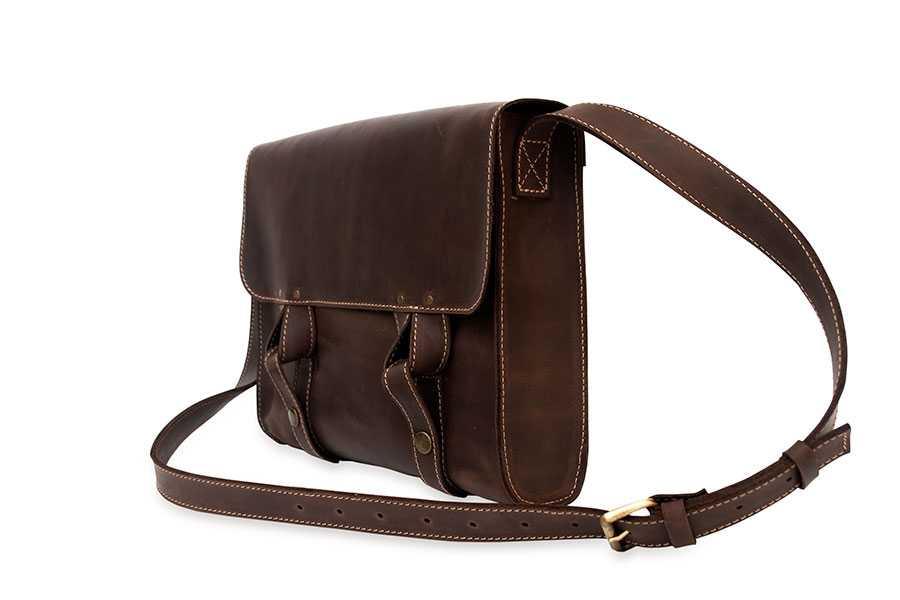 Satchel bag brown - Wellbags Шкіряні сумки ручної роботи 75afb08adec41