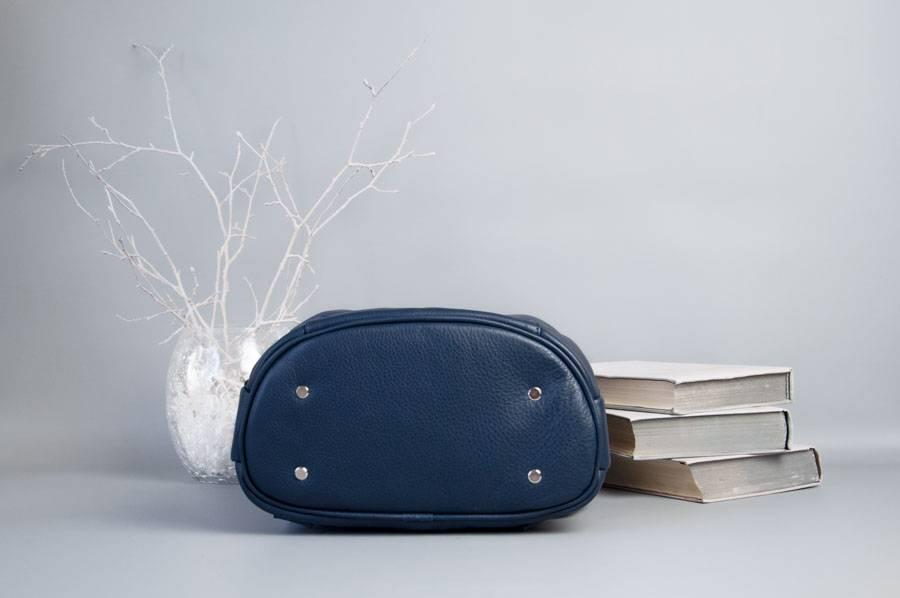 Monik Leather Backpack blue