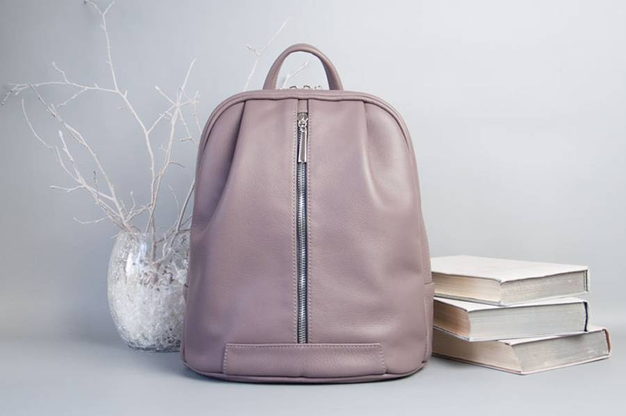 Monik Leather Backpack dusty pink