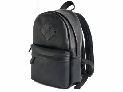 Backpack leather black mini
