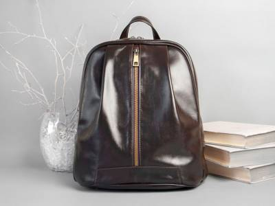 Monik Leather Backpack brown