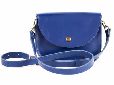 Saddle royal blue mini