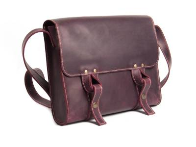 Satchel bag vinous