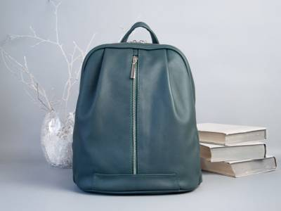 Monik Leather Backpack green