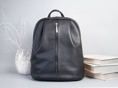 Monik Leather Backpack black