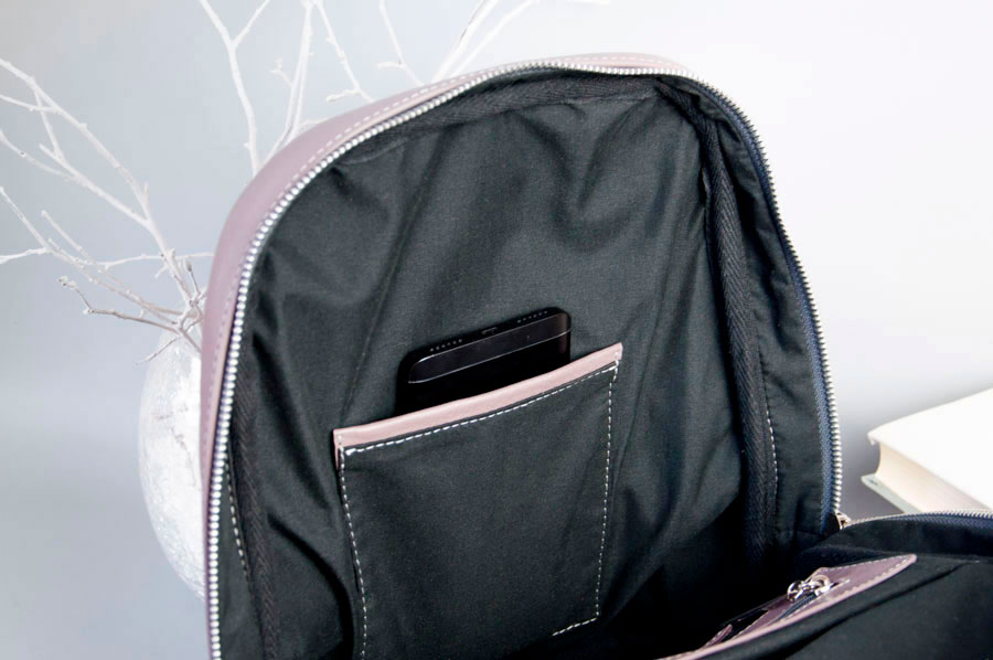 Monik Leather Backpack dusty pink 12