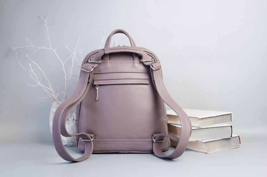 Monik Leather Backpack dusty pink 6