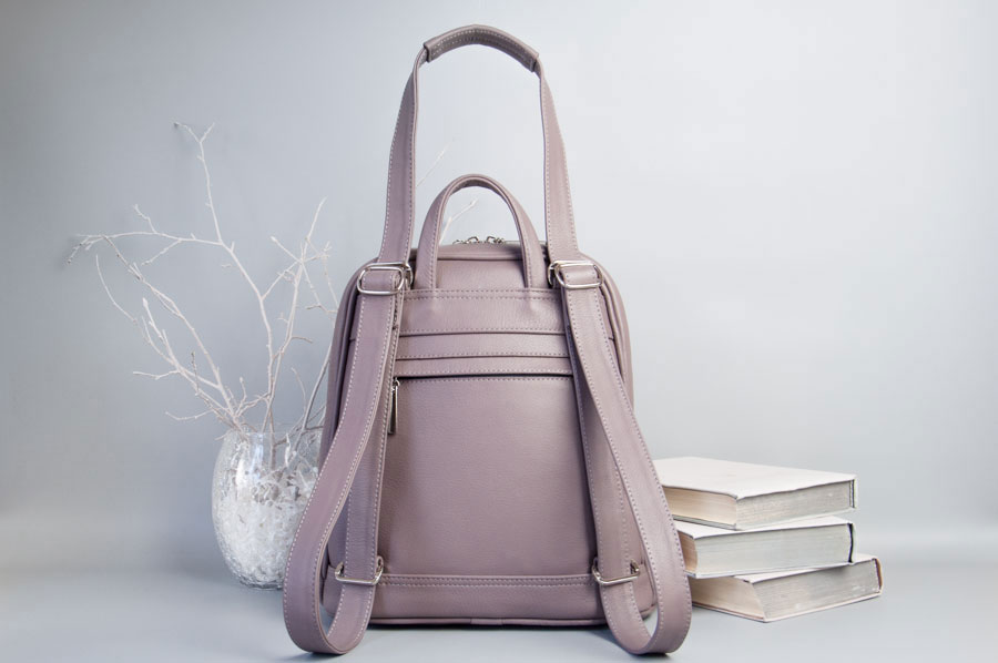 Monik Leather Backpack dusty pink 8