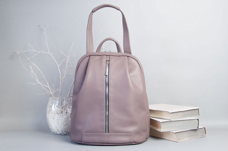 Monik Leather Backpack dusty pink 9